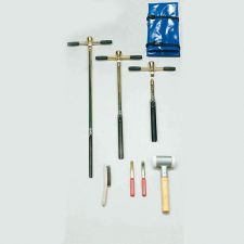 Gouge auger set for stepwise sampling