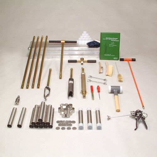 Soil coring kit for chem. soil research