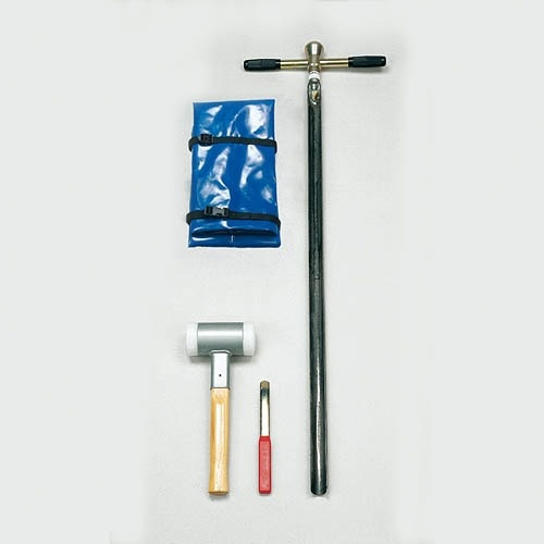Single gouge auger set, 1 m hard soils