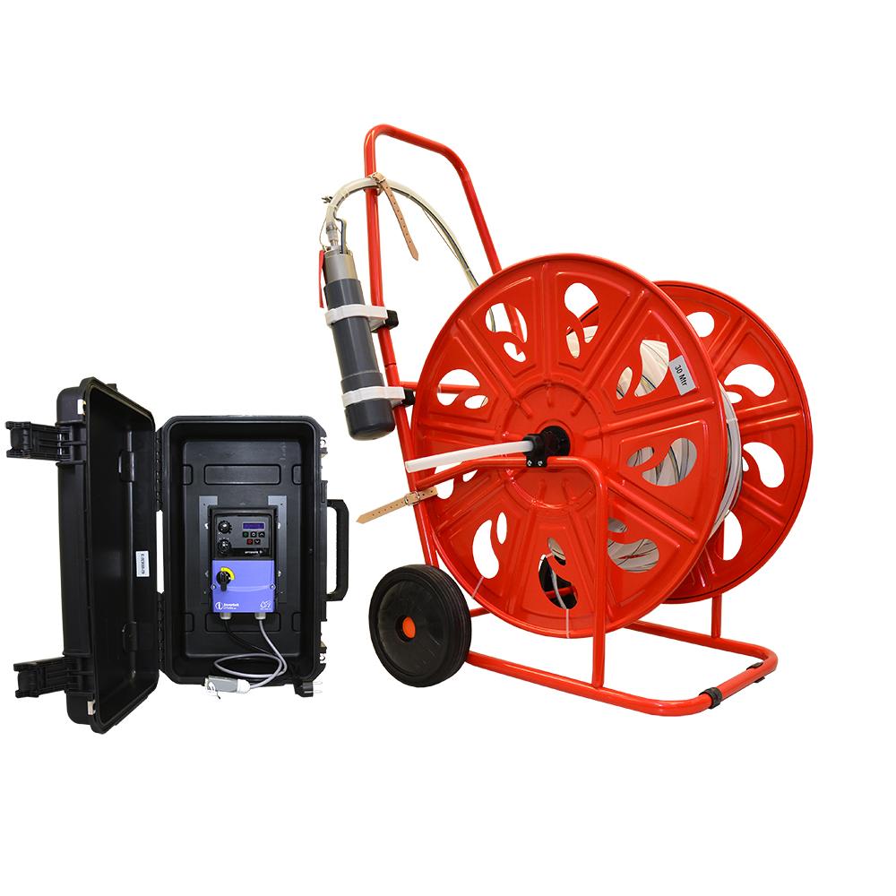 Submersible pump, set till 90 m, LDPE