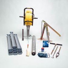Soil column cylinder auger set